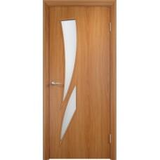 Дверь ламинированная Verda C-02 ДО Миланский орех