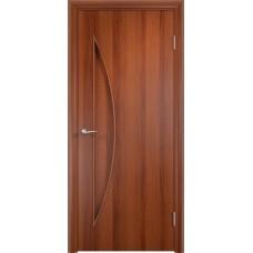Дверь ламинированная Verda C-06 ДГ Итальянский орех