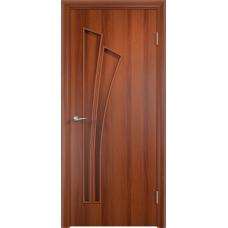 Дверь ламинированная Verda C-07 ДГ Итальянский орех