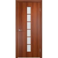 Дверь ламинированная Verda C-12 ДО Итальянский орех