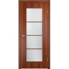 Дверь ламинированная Verda C-08 ДО Итальянский орех со стеклом Сатинато