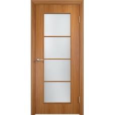 Дверь ламинированная Verda C-08 ДО Миланский орех со стеклом Сатинато