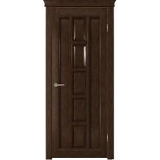 Дверь шпонированная Verda Квадра ДГ тон каштан