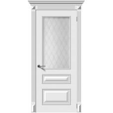 Дверь эмаль Verda Багет-3 ДО Белый