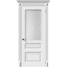 Дверь эмаль Verda Трио ДО Белый