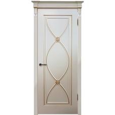 Дверь эмаль Легенда Фламенко ДГ RAL 9001 с золотой патиной