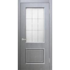 Дверь экошпон Verda Роял 2 ДО Серый