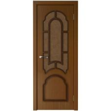 Дверь шпонированная Verda Соната ДО орех