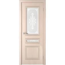 Дверь шпонированная Verda Стиль ДО беленый дуб