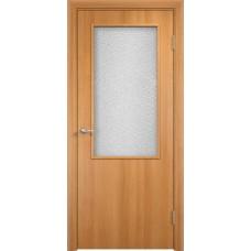 Дверь ПВХ с четвертью Verda Остекление 58 Миланский орех
