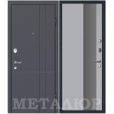 Дверь входная МеталЮр М16 Антрацит / Манхеттэн