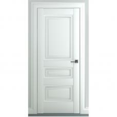 Дверь экошпон ZADOOR Ампир В1 ДГ Матовый белый