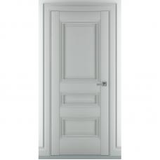 Дверь экошпон ZADOOR Ампир В1 ДГ Матовый серый