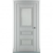 Дверь экошпон ZADOOR Ампир В1 ДО Матовый серый