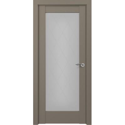 Дверь ZADOOR ПГ Неаполь ПО ТИП-S Матовый графит