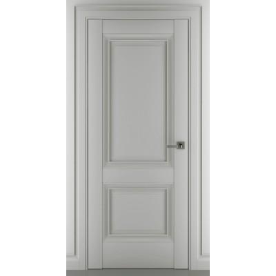Дверь ZADOOR ПГ Венеция B1 Baguette Classic Матовый графит