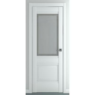 Дверь ZADOOR Остекленная Венеция B4 Baguette Classic Матовый белый