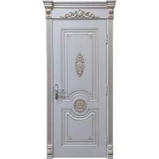 Дверь эмаль Verda Олимп ДГ RAL 9010 с патиной янтарь