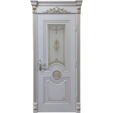 Дверь эмаль Verda Олимп ДО RAL 9010 с патиной янтарь