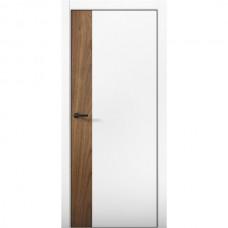 Дверь экошпон Regidoors Palladium 6 Аляска, вставка Орех пекан кромка белая