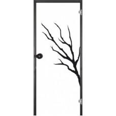 Дверь стеклянная Jeld Wen Oksa стекло прозрачное с рисунком