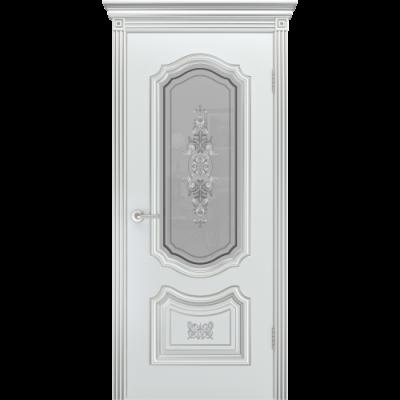 Дверь BP-DOORS Соло Грейс B4 ДО2 Эмаль Белая патина золото
