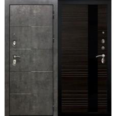 Дверь входная Verda Армада Бетон/ Венге стекло черное