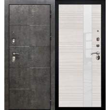 Дверь входная Verda Армада Бетон/ Беленый дуб стекло белое
