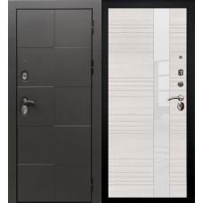 Дверь входная Verda Армада Графит/ Беленый дуб стекло белое