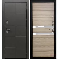 Дверь входная Verda Армада Бетон/ Лиственница натуральная стекло белое