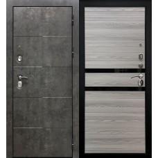 Дверь входная Verda Армада Бетон/ Лиственница серая стекло черное