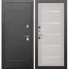 Дверь входная Верда Isoterma Серебро/ Лиственница бежевая
