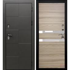 Дверь входная Verda Армада Графит/ Лиственница натуральная стекло белое
