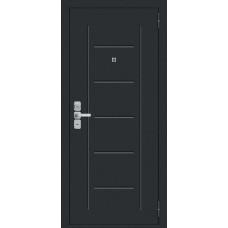 Дверь входная BRAVO Райт 117.П22 Муар антрацит / Wenge Veralinga