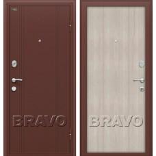 Дверь входная BRAVO Optim Door Out 201 Антик Медь / Cappuccino Veralinga