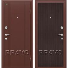 Дверь входная BRAVO Optim Door Out 201 Антик Медь / Wenge Veralinga