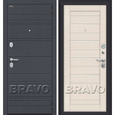 Дверь входная BRAVO Optim Сканди П-37 Graphite Wood / Cappuccino Softwood