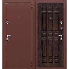 Дверь входная BRAVO Optim Старт Антик Медь / П-28 Темная вишня