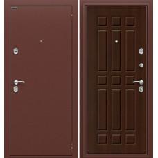 Дверь входная BRAVO Optim Старт Антик Медь / П-33 Венге