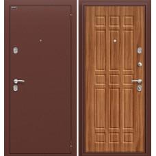 Дверь входная BRAVO Optim Старт Антик Медь / П-8 Янтарный дуб