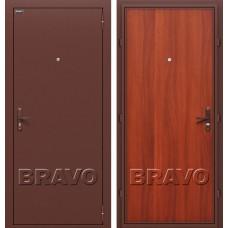 Дверь входная BRAVO Optim Эконом Антик Медь / М-11 Итальянский орех