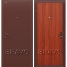 Дверь входная BRAVO Optim Инсайд Эконом Антик Медь / М-11 Итальянский орех