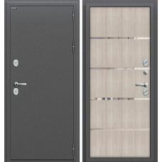 Дверь входная BRAVO Optim Термо 204 Антик Серебро / Cappuccino Veralinga