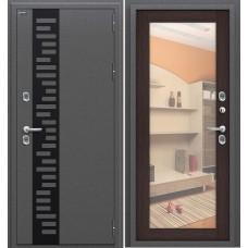 Дверь входная BRAVO Optim Термо 220 Антик Серебро / Wenge Veralinga
