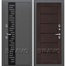 Дверь входная BRAVO Optim Термо 222 Антик Серебро / Wenge Veralinga