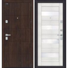 Дверь входная BRAVO Porta M 4.П23 Almon 28 / Bianco Veralinga
