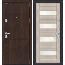 Дверь входная BRAVO Porta M 4.П23 Almon 28 / Cappuccino Veralinga