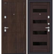 Дверь входная BRAVO Porta M 4.П23 Almon 28 / Wenge Veralinga