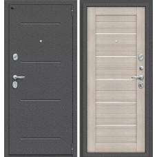 Дверь входная BRAVO Porta S 104.П22 Антик Серебро / Cappuccino Veralinga