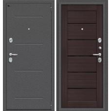 Дверь входная BRAVO Porta S 104.П22 Антик Серебро / Wenge Veralinga